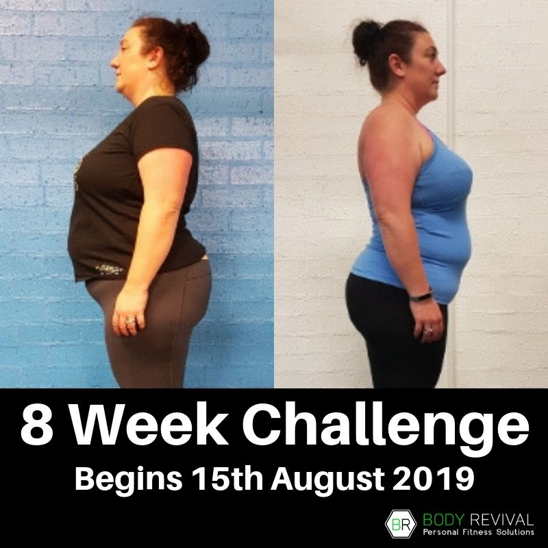 8 Week Fitness Challenge Wollongong. Before and After results Body Revival